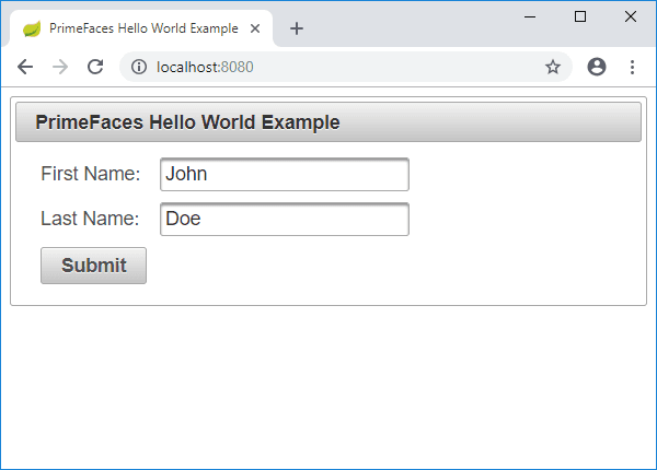 jsf welcome page redirect