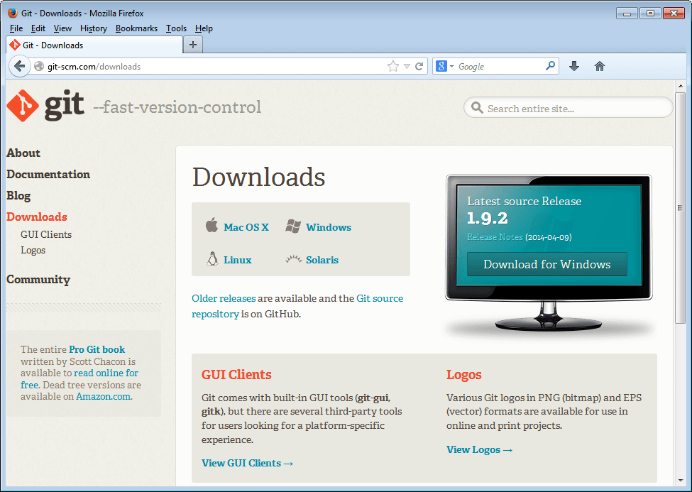 git download page