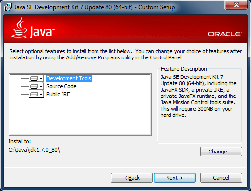 java 7 jdk location
