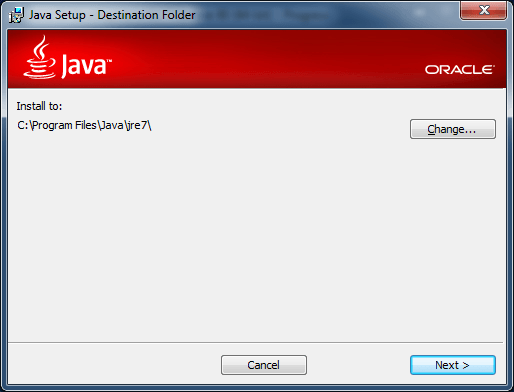 java 7 public jre location