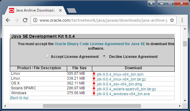 java 9 download jdk