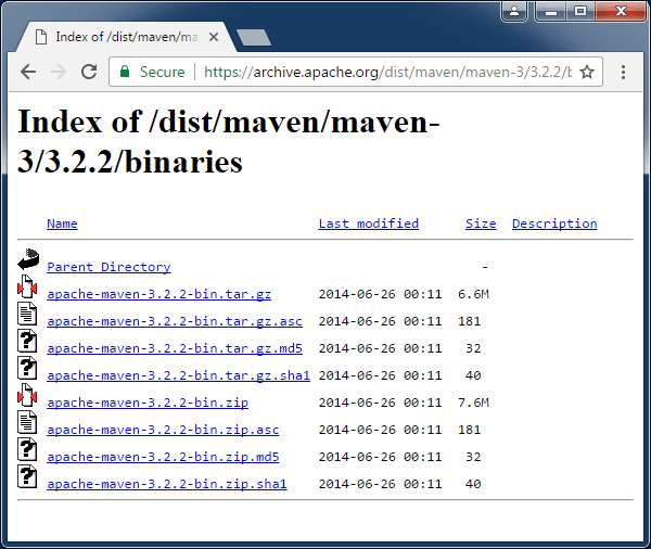 maven 3.2 archive download page