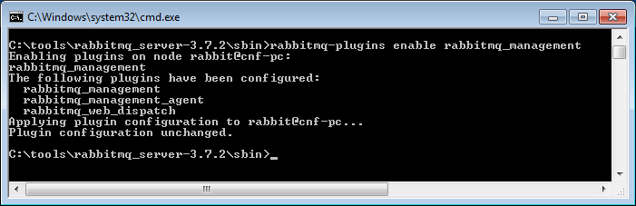 rabbitmq enable management console